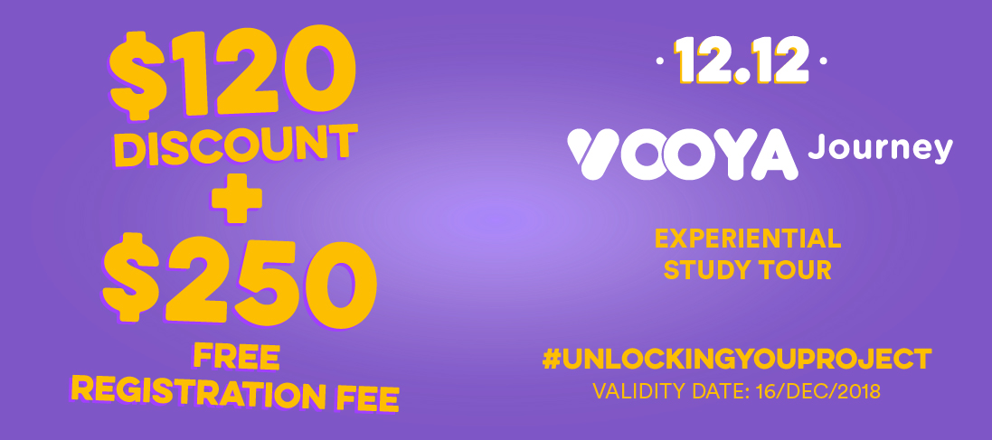$120 + $250 Discount for Vooya Journey